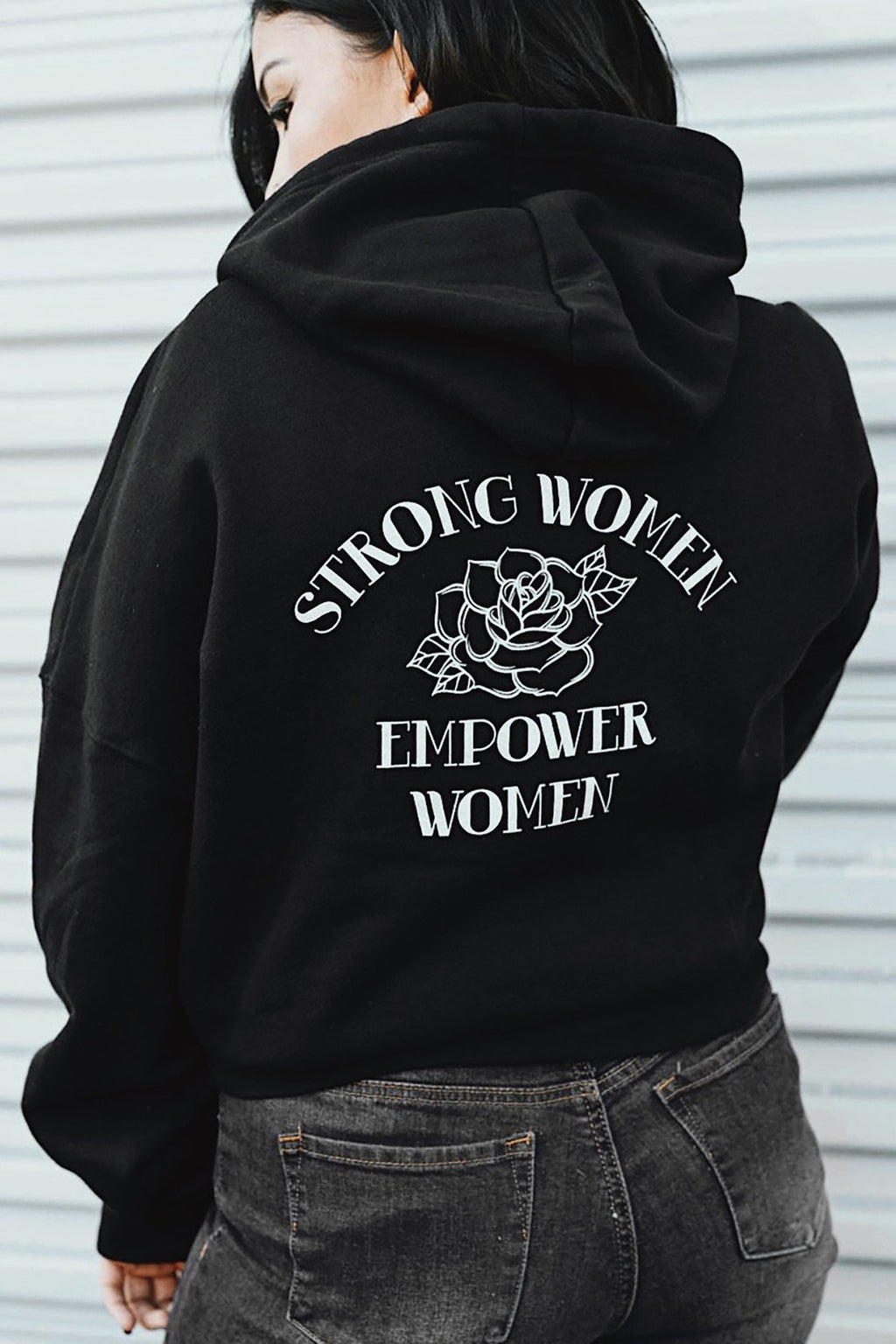Strong Women Empower Hoodie - REBEL SOUL COLLECTIVE FEMINIST GRAPHIC TEES