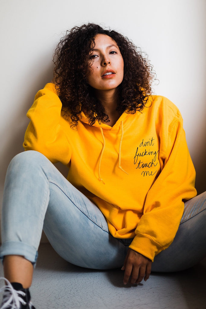 Don't Touch Me Hoodie - REBEL SOUL COLLECTIVE FEMINIST GRAPHIC TEES