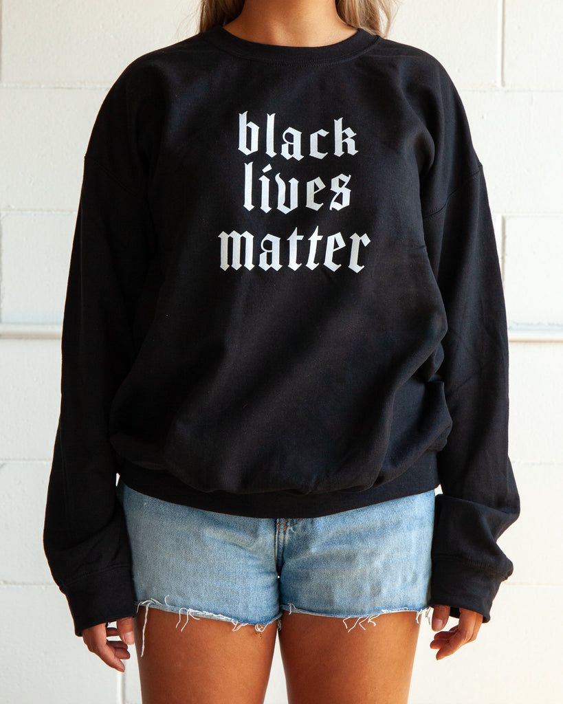 BLACK LIVES MATTER Pullover - REBEL SOUL COLLECTIVE FEMINIST GRAPHIC TEES