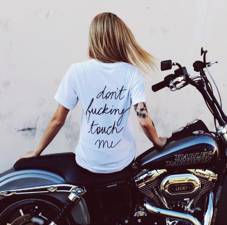 Don't Touch Me Tee - REBEL SOUL COLLECTIVE FEMINIST GRAPHIC TEES