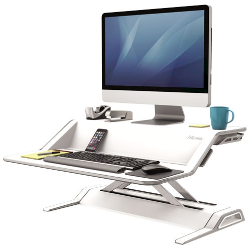 Advanced Sit / Stand Desktop Converter - bluespaceinteriors office furniture los angeles
