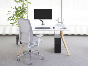 Fully Adjustable Single Monitor Arm - bluespaceinteriors office furniture los angeles