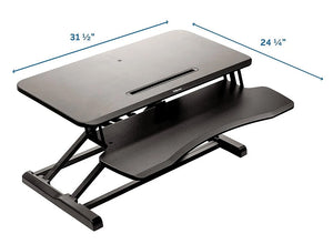 Simple Sit-to-Stand Desk Converter - bluespaceinteriors office furniture los angeles