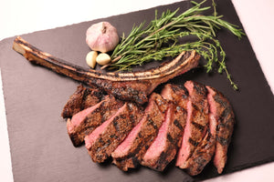 Beef Rib Tomahawk Steaks Long Bone (1.24-1.44kg) ($43.55/1kg)