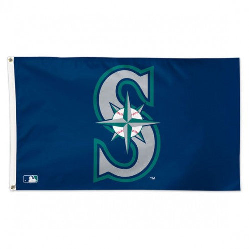 Mariners Logo Deluxe 3x5 Flag