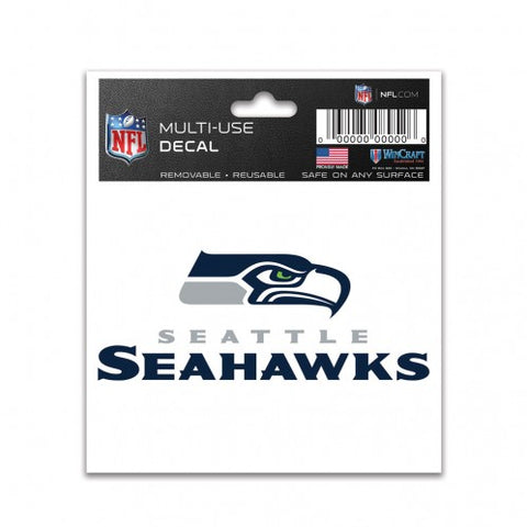 Seahawks Logo Text Multi-Use 3x4 Decal