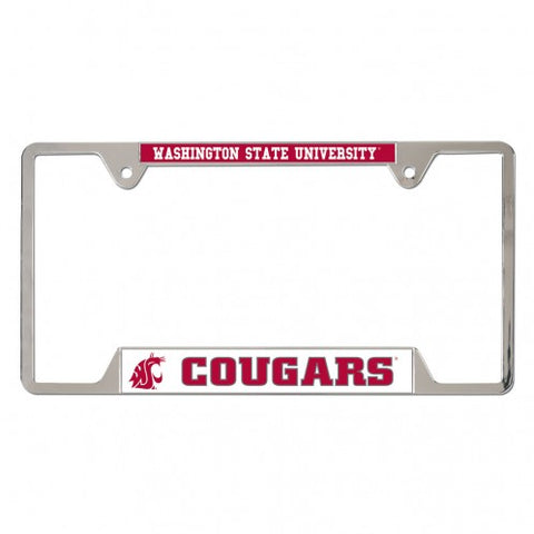 WSU Cougars Metal License Plate Frame