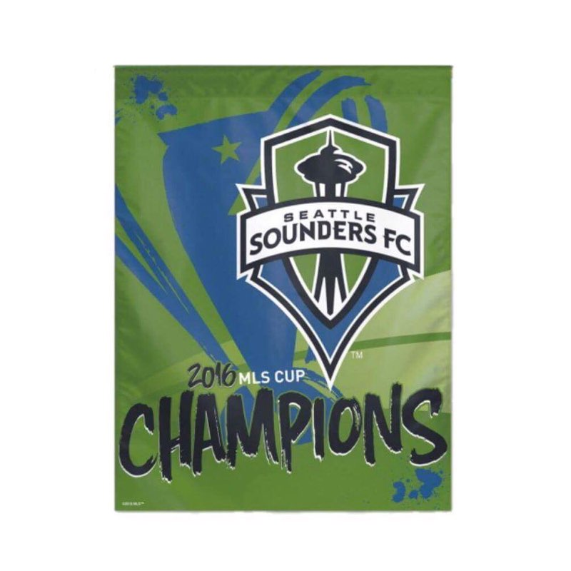 Sounders 2016 MLS Cup Champions Vertical Flag *ALMOST GONE!