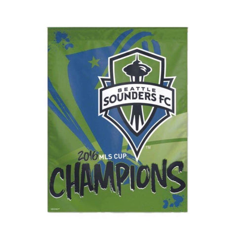 Sounders 2016 MLS Cup Champions Vertical Flag