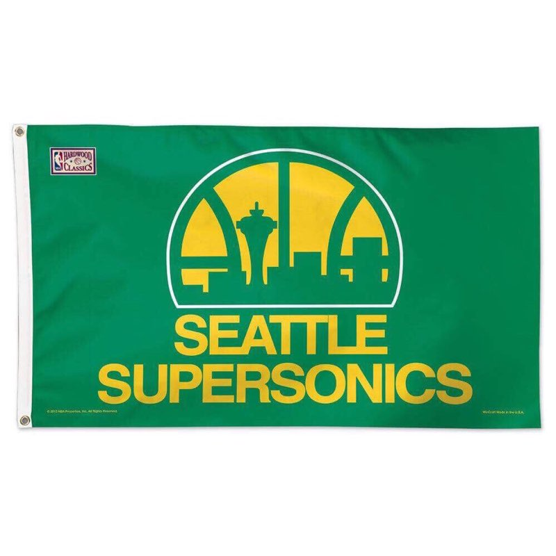 Seattle Supersonics Official 3x5 Retro Deluxe Flag