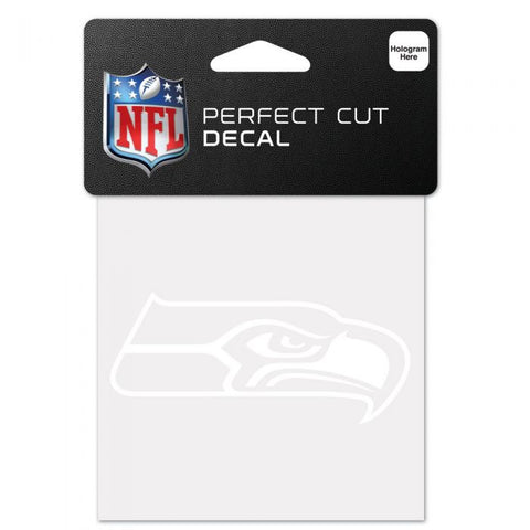 Seahawks Perfect Cut White 4x4 Decal