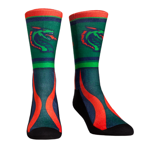 "XFL Dragons ""Team Stripe"" Socks"
