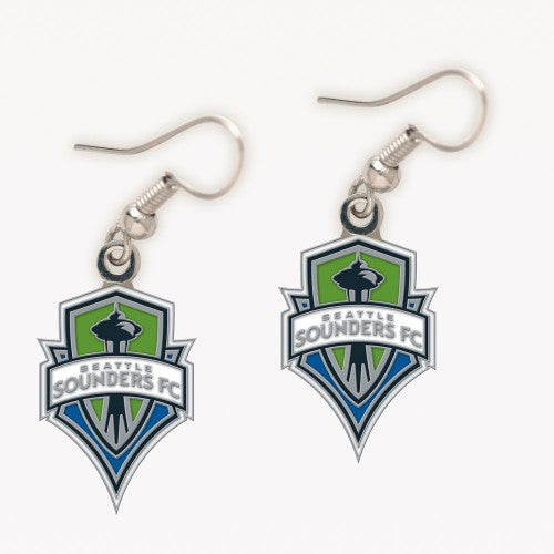 Sounders Logo Dangling Earrings