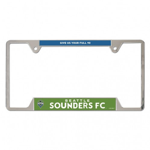 Sounders Full 90 Metal License Plate Frame