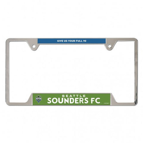 Sounders Metal License Plate Frame