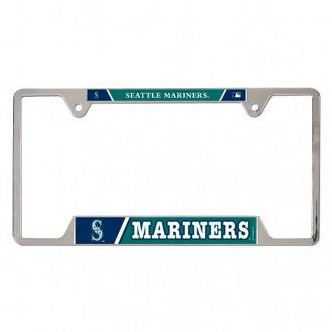 Mariners Teal Metal License Plate Frame