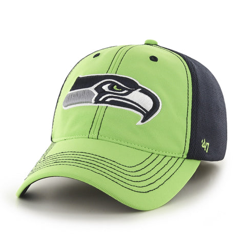 Seahawks Lime Reversal Closer Stretch Hat