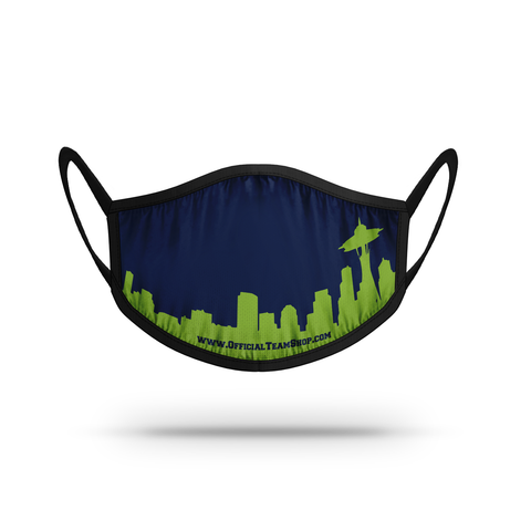 Seattle Skyline Athletic Mask Face Cover