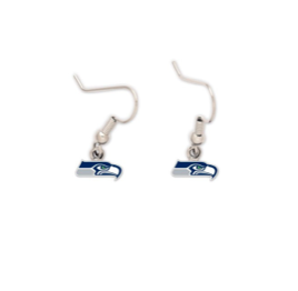 Seahawks Logo Dangle Earrings