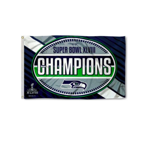 Seahawks 3x5 Super Bowl Champions Flag