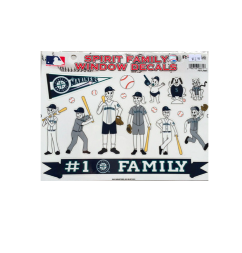 Mariners Spirit Family Window Decals