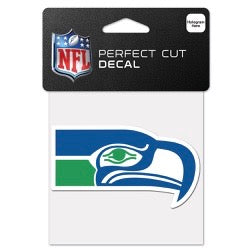 Seahawks Retro Perfect Cut Color 4x4 Decal