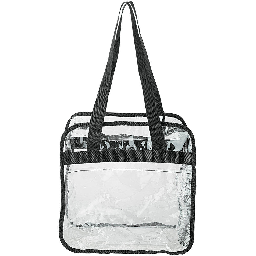 Clear Stadium Approved Zippered Tote Bag