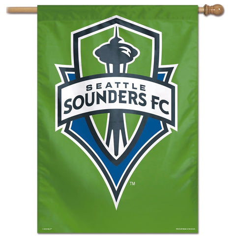Sounders Logo Vertical Flag