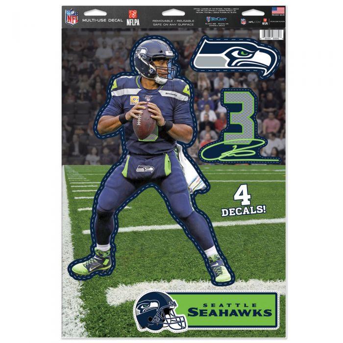 Seahawks Russell Wilson 4-Pack Multi-Use Decals