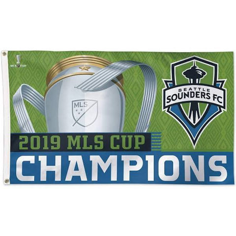 Sounders MLS CUP 2019 Champs 3x5 Flag