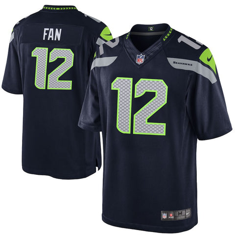 Youth Seahawks Fan 12 Navy Game Jersey (Available In-Store Only)
