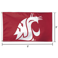 WSU Cougars 3x5 Deluxe Flag