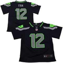 Toddler Seahawks Fan 12 Navy Game Jersey