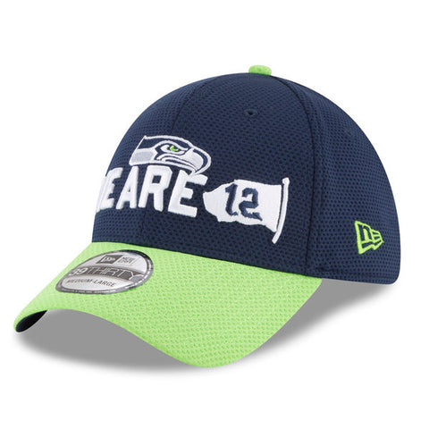 Seahawks Navy/Neon Green 2018 Draft Spotlight 39THIRTY Flex Fit