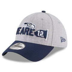 Seahawks Gray/Navy 2018 Draft Official On-Stage 39THIRTY Flex Fit