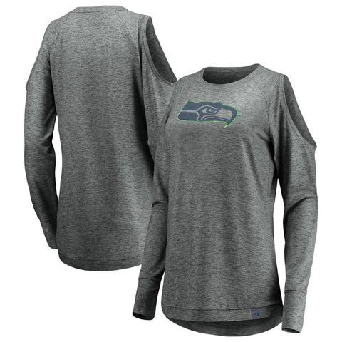 Women's Seahawks Team Ambition Cold Shoulder Long Sleeve