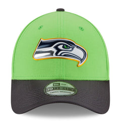 Limited Edition Seahawks Neon Green/Graphite Gold Collection On Field 39THIRTY Flex Fit Hat