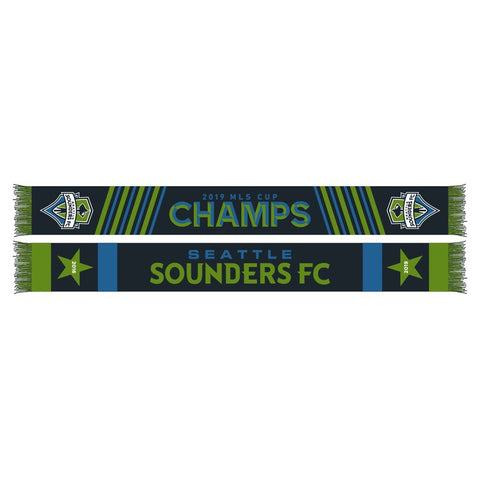Sounders 2019 MLS Cup Champions 2 Star Scarf