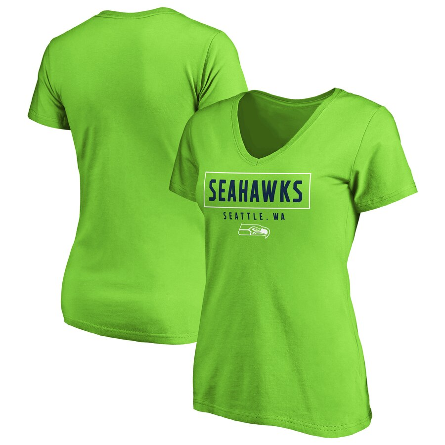 Women's Seahawks 2-Tone V-Neck