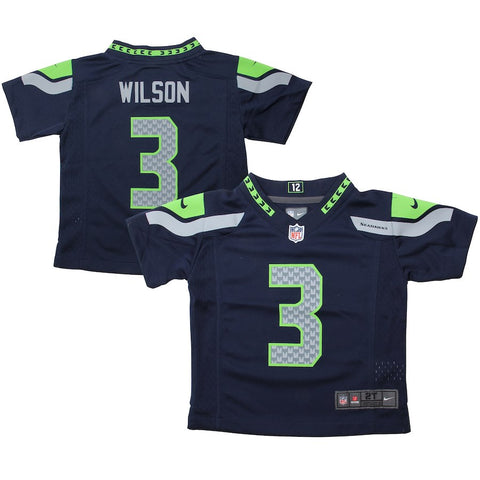 Toddler Seahawks Russell Wilson 3 Navy Game Jersey (Available In-Store Only)