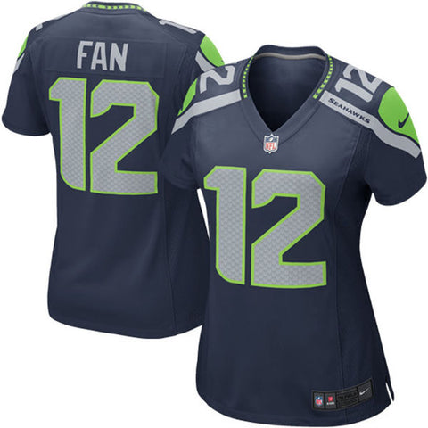 Women's Seahawks Fan 12 Navy Game Jersey
