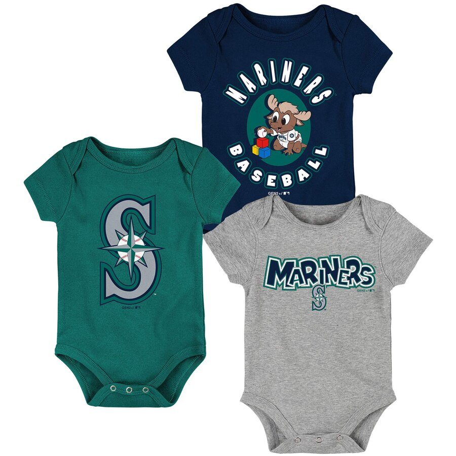 Infant Mariners 3-Pack Creeper Set