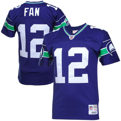 Seahawks Fan 12 Vintage Replica Jersey - Royal Blue