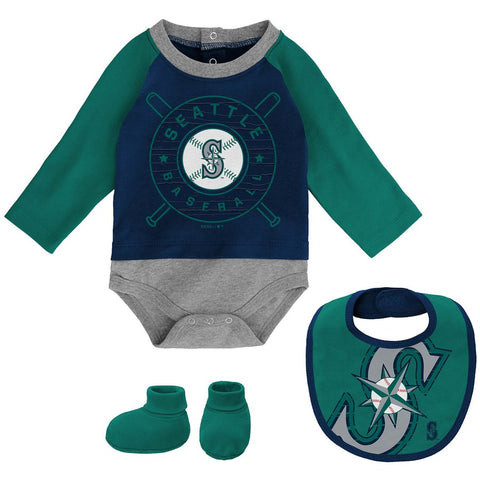 Newborn & Infant Dugout Dude Creeper, Bib, Booties Set