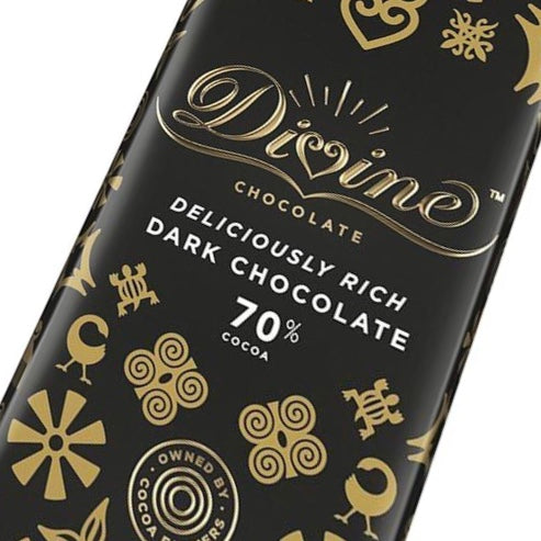 Divine 70% Dark Chocolate Bar 90 grams