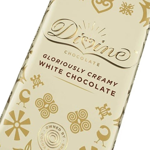 Divine Creamy White Chocolate Bar 90 grams