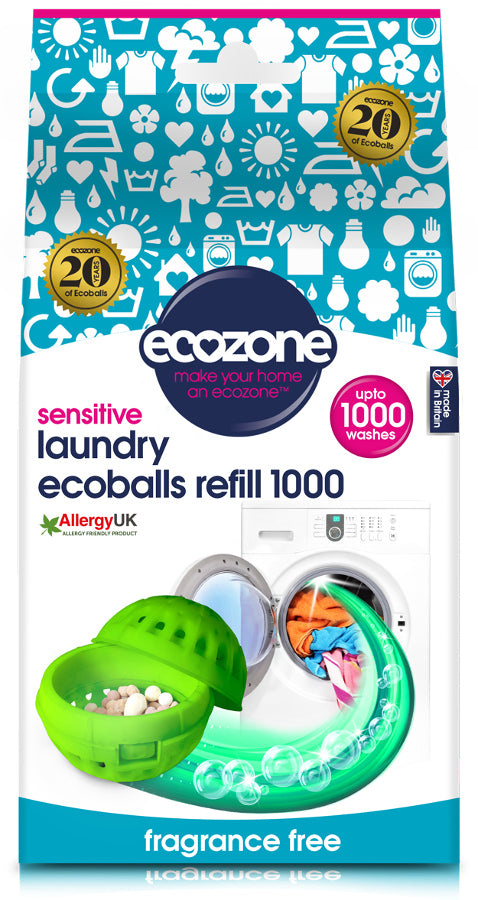 EcoZone Laundry Ecoballs Refill Pellets 1000 Washes
