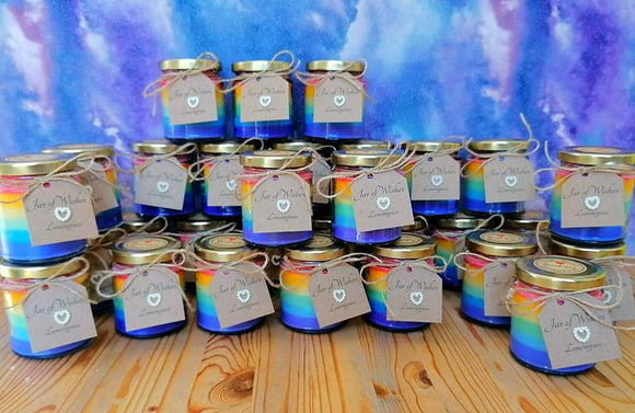 Rainbow Candle - Lemongrass Scented