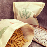 Extra Large Wax Bread Pouch Produce Bag (vegan friendly or beeswax)