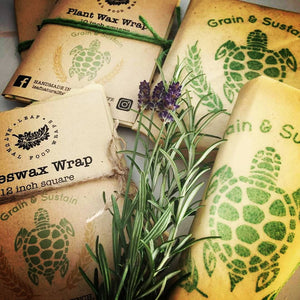 Waxed Food Wraps - Beeswax and Vegan Options